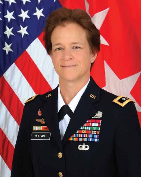 Major General Diana Holland, Mississippi Valley Division Commanding General of the USACE, provides remarks on RRHP