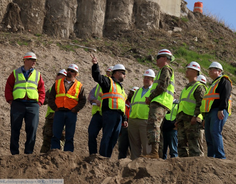 Corps of Engineers officers visit Red Rock Hydroelectric Project