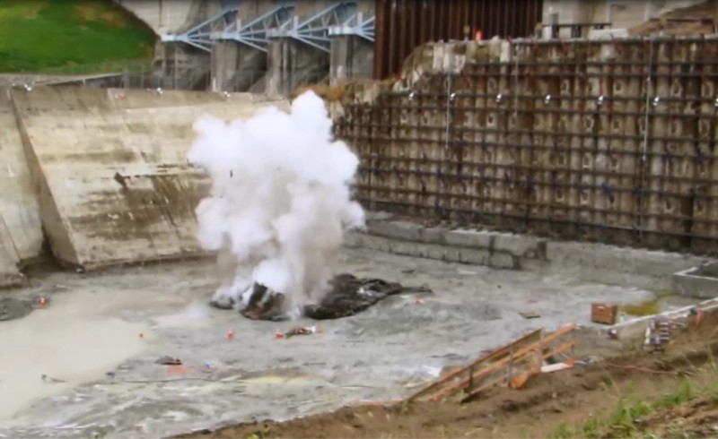 Excavation at hydro project site now includes blasting