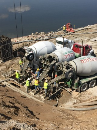 Dry weather allows for continued headway at hydro project