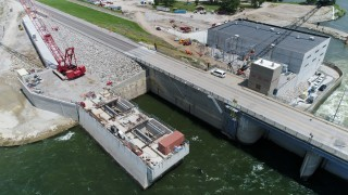 RRHP work progressing downstream; still on hold upstream due to high water levels