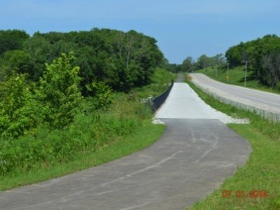 Bike Trail Extension Along Highway G-28 - After