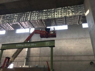 Installation of HVAC in powerhouse, August 2018.