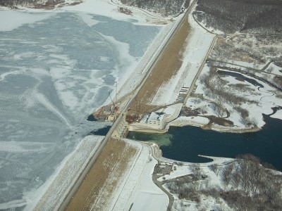 Aerial View of the Red Rock Hydroelectric Project, Feb. 2, 2020.