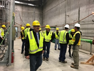 Directors from both the MRES and Western Minnesota Municipal Power Agency boards, and several city officials, employees, and policy makers from Pella (Iowa) toured the Red Rock Hydroelectric Project (RRHP) in October. The project is expected to be operational in 2020.